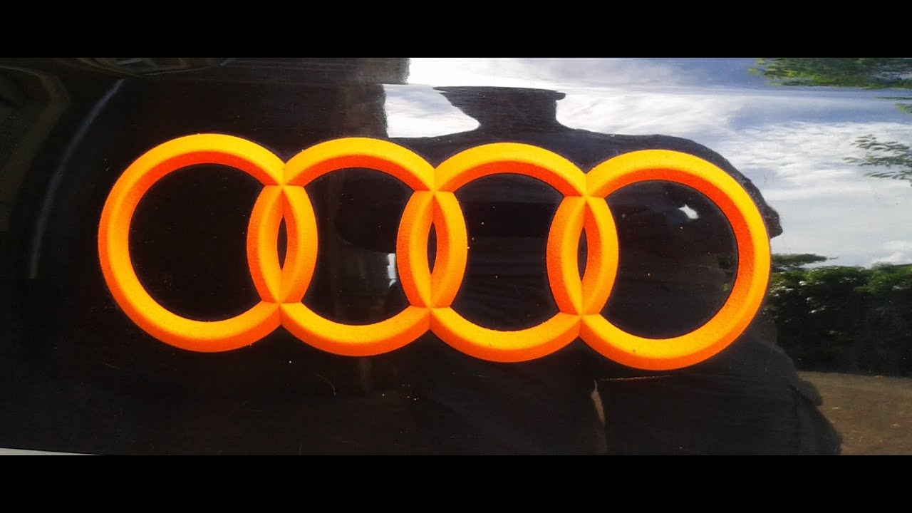 Neon Schriftzug How To Plasti Dip Blaze Orange Neon Orange Audi A6