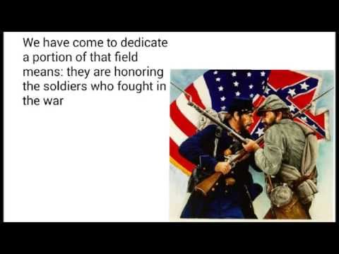 Gettysburg Address Explanation