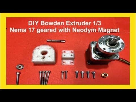 DIY Filament Extruder - Nema 17 stepper motor   - Part 1/3