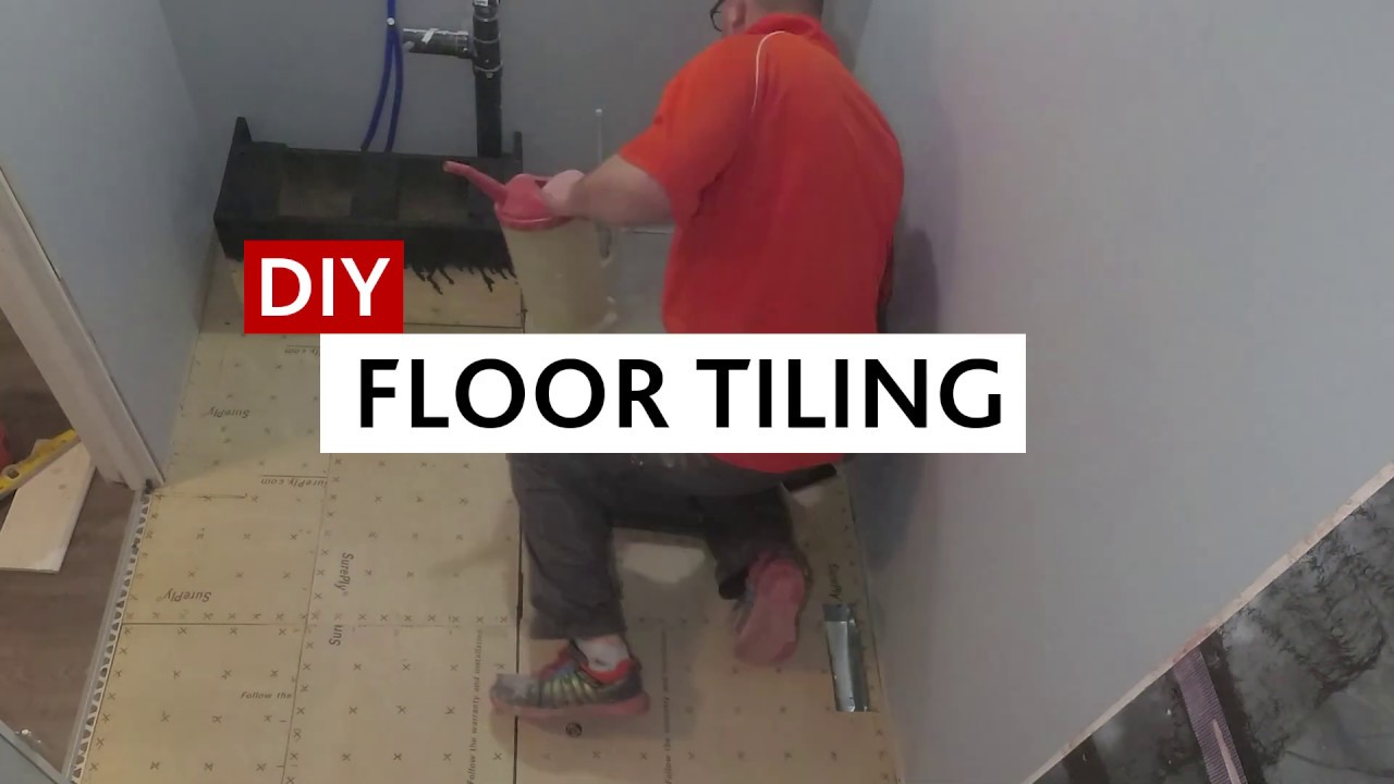 floor tiling from mortar to grout