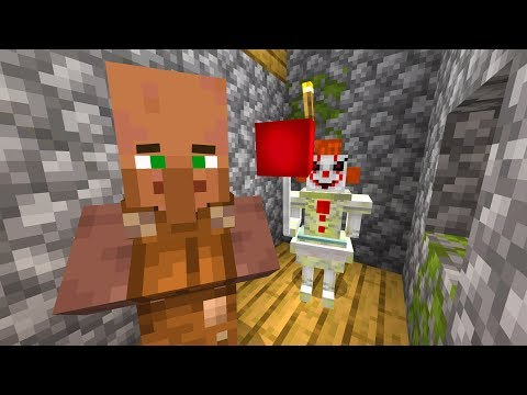 Trapping a Minecraft villager with Pennywise for 24 hours..