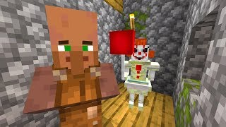 Trapping a Minecraft villager with Pennywise for 24 hours