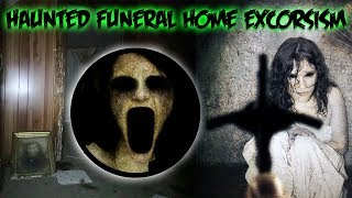 (GONE WRONG) HAUNTED ABANDONED FUNERAL HOME  EXORCISM WAS DONE ON A LITTLE GIRL!