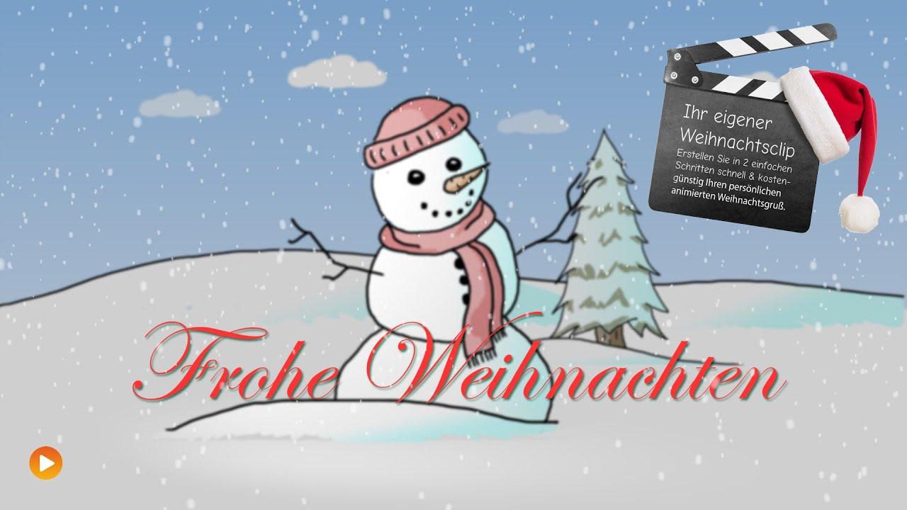 Animierter Weihnachtsgruß: Schneemann - YouTube