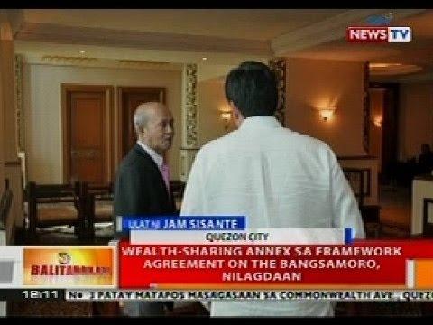 BT: Wealth-sharing annex sa framework agreement ng Bangsamoro, nilagdaan