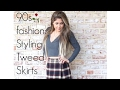 90's fashion: How to Style a Tweed Skirt