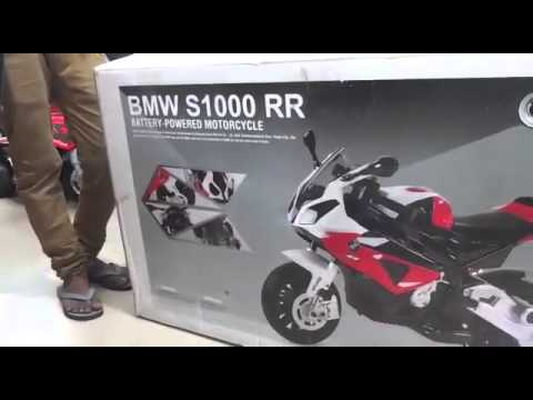 bmw battery operated ride on toys bike - youtube