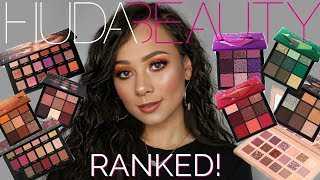 Ranking Huda Beauty Eyeshadow Palettes from WORST to BEST!