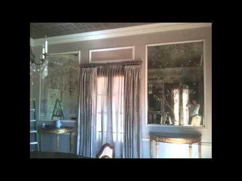reverse painted antique mirror