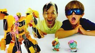 Игрушки трансфомеры. Весёлые видео для мальчиков.