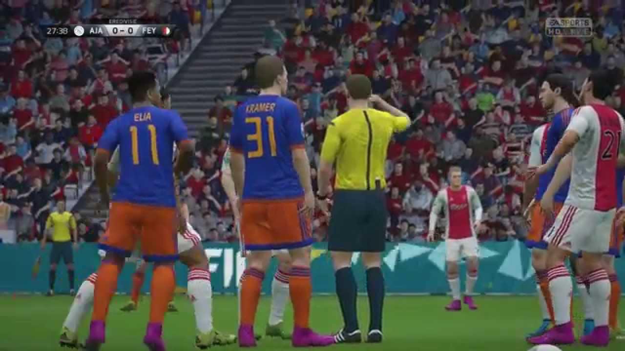 FIFA 16 - Ajax vs Feyenoord - YouTube