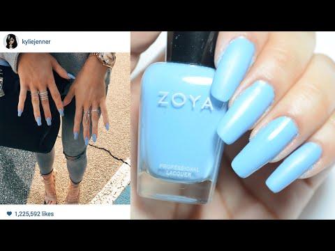 Kylie Jenner's Blue Matte Nails! ☆ Zhyna