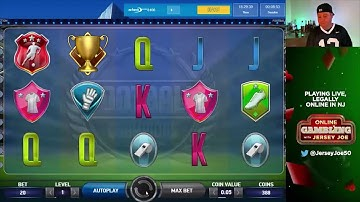 Football Champions Cup slots LIVE with BONUS [Online Gambling with Jersey Joe # 60]