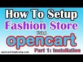 How To Set Up A Fashion Shop On Opencart Part 1: Viva Installation