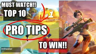 Top 10 Pro Tips / Tricks to WIN !! ( CREATIVE DESTRUCTION )