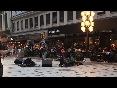 Busking at Faneuil Hall