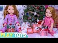Baby Doll Twins Christmas Gift Presents Glam Dresses Clothes from Santa!
