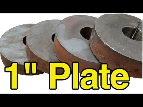 """Piercing 1"""" Thick Plate with a Hypertherm 85 - Trucutcnc CNC Plasma Table Top 5"""