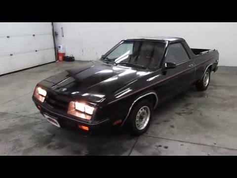 Dustyoldcars Com 1984 Dodge Rampage 2 2 Youtube