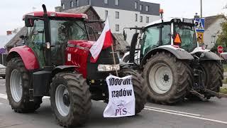 Protest rolników w Ostrowi Mazowieckiej (21.10.2020r.)