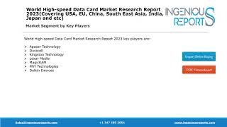 Global 2023: High-speed Data Card Industry Development,Growth,Share and Forecast Analysis