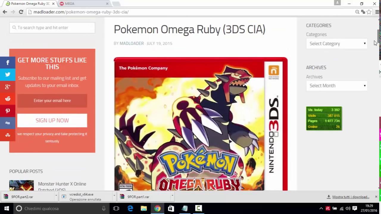 pokemon rubino omega per pc