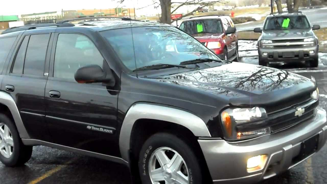 2002 Chevrolet Trailblazer Ltz 4dr Suv 4x4 4 2 6cyl Leather P Roof Very Sharp And Clean Youtube