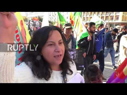 Greece: Erdogan gets hostile reception from Kurdish exiles