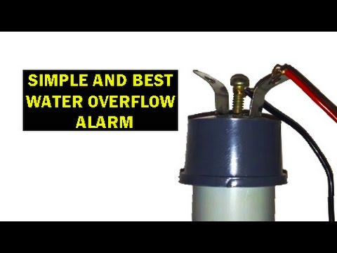 HOW TO MAKE WATER OVERFLOW ALARM - SIMPLE AND EASY