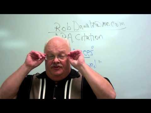 Dawalt lectures APA Citation