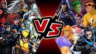 X-Men VS Teen Titans | BATTLE ARENA