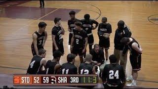 Stoughton High Boys Basketball at Sharon (2-13-18)