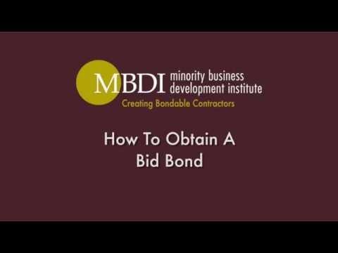 MBDI - How To Obtain A Bid Bond - David Cayemitte