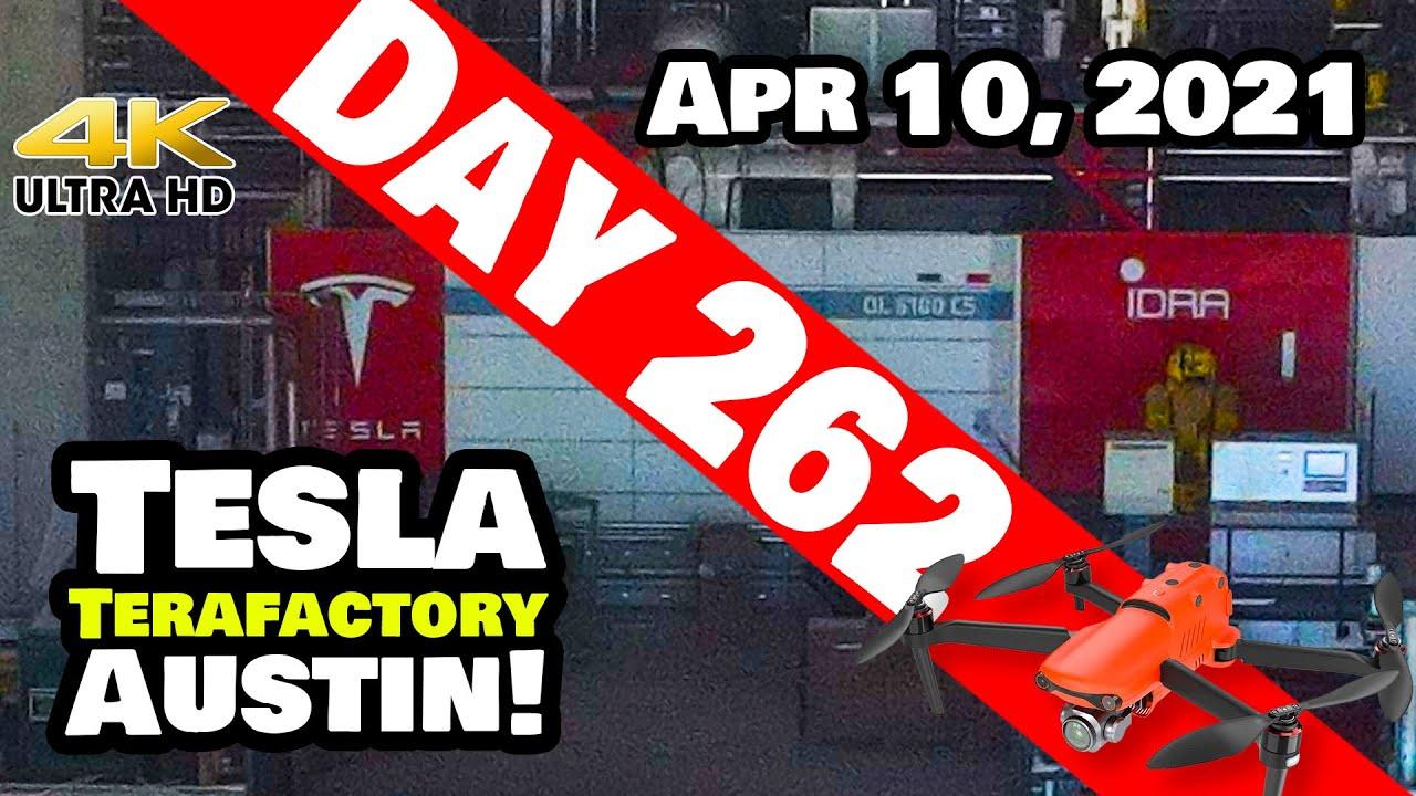 Tesla Gigafactory Austin 4K  Day 262 - 4/10/21 - Terafactory Texas- SPECTACULAR PROGRESS GIGA TEXAS!