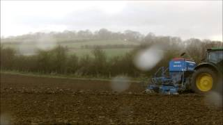 6210r finishing drilling in the rain