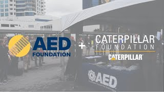 Video still for The Caterpillar Foundation's Team-Up With The AED Foundation