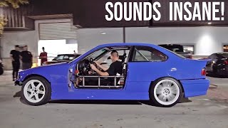 First BURNOUT in the 1JZ E36!