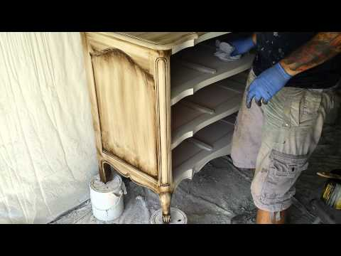 Painting Shabby Chic Furniture: Start To Finish - Part 13