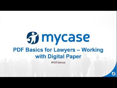 MyCase Webinar  Series: PDF Basics for Lawyers with Ernie Svenson