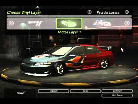 Nfs Underground 2 Mitsubishi Lancer Evolution Viii Tuning Youtube