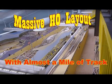 Massive HO layout with almost a mile of track
