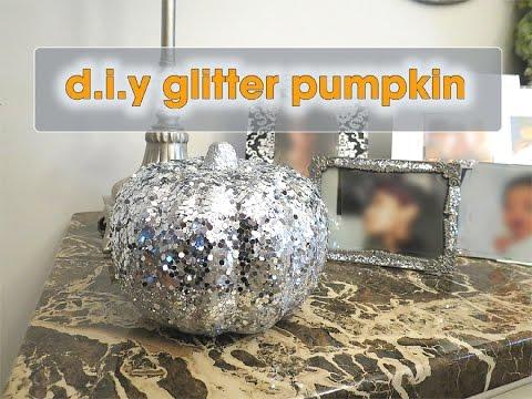 Diy Silver Glitter Pumpkin Dollar Tree Fall Decor