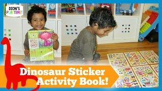 FUN ACTIVITY FOR CHILDREN! Dinosaur Sticker Book!