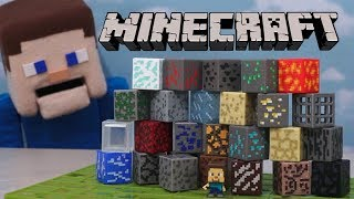Minecraft Periodic Table of Elements Mattel Toy Blocks Unboxing Review - Puppet Steve