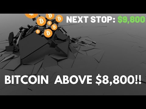 Bitcoin Price Surge, Breaks $8,800! Next Stop $9,800 – Cryptocurrency News