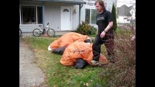 15 foot air blown inflatable reindeer