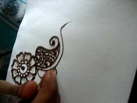 How to draw Simple floral henna design (Mehendi) Part I ...  How to draw Sim...