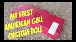 MEINE ERSTE AMERICAN GIRL CUSTOM DOLL UNBOXING UND REVIEW