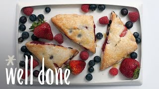 How to Make Mixed Berry Scones with Lemon-Ginger Glaze | Recipe | Well Done