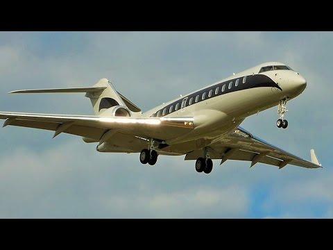 [FullHD] Niki Lauda's Bombardier Global 6000 landing at Geneva/GVA/LSGG
